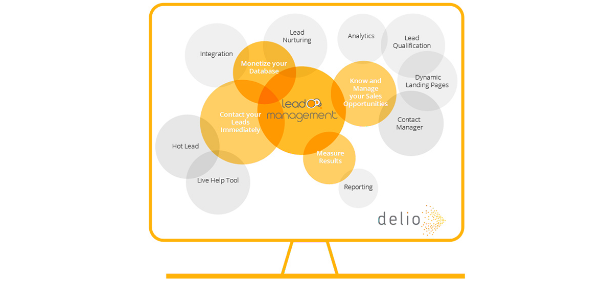 Delio Lead Management provides you with a set of tools so that you can carry out efficient care and management of all your leads